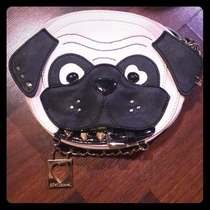 Betsey johnson pug face dog purse new with tags